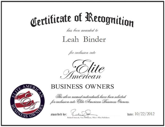 Leah  Binder