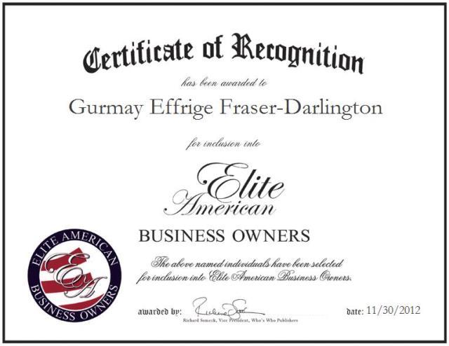 Gurmay Effrige Fraser-Darlington, MSIM, MSW, LCSW, LCAS/A, BSW